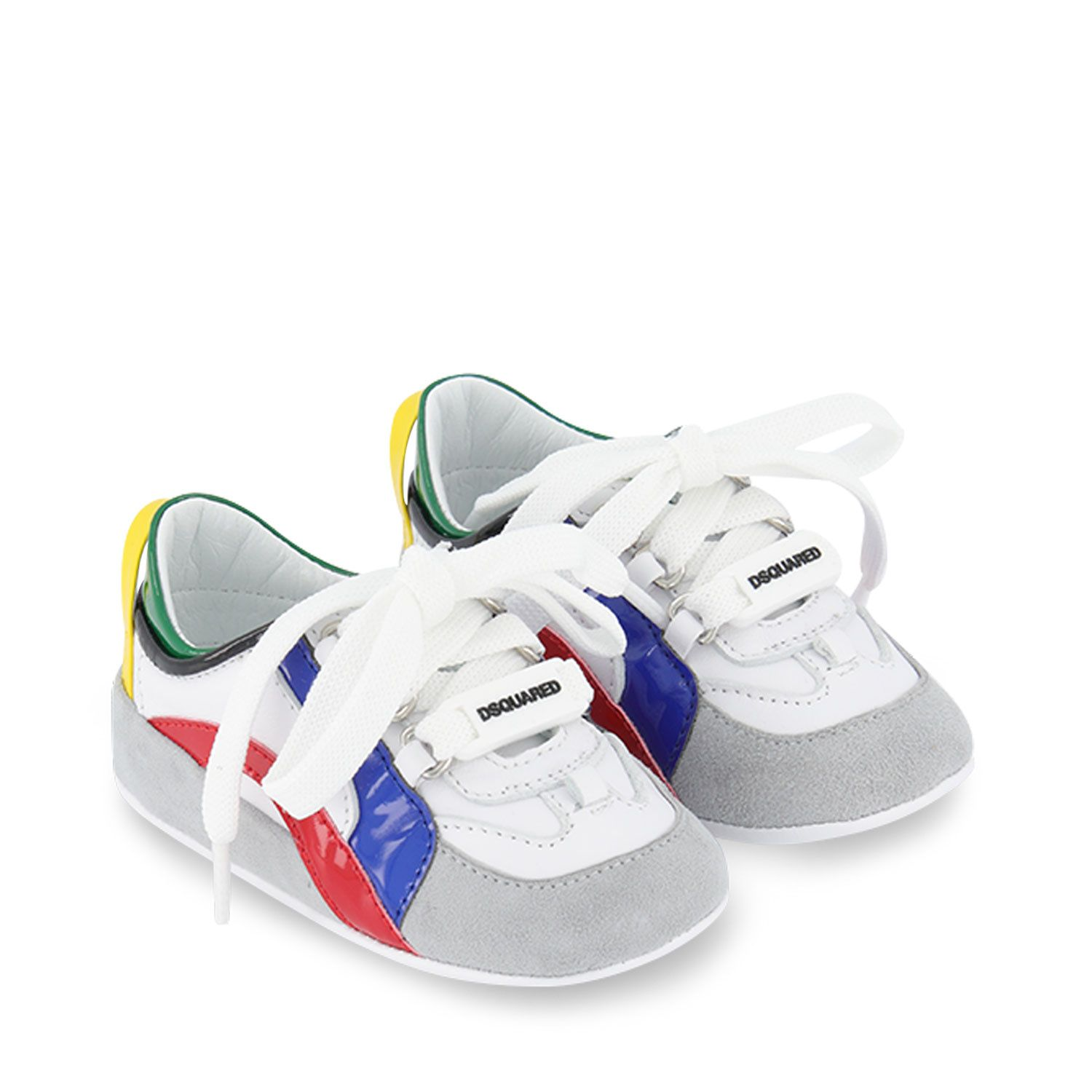 Picture of Dsquared2 66954 baby sneakers white