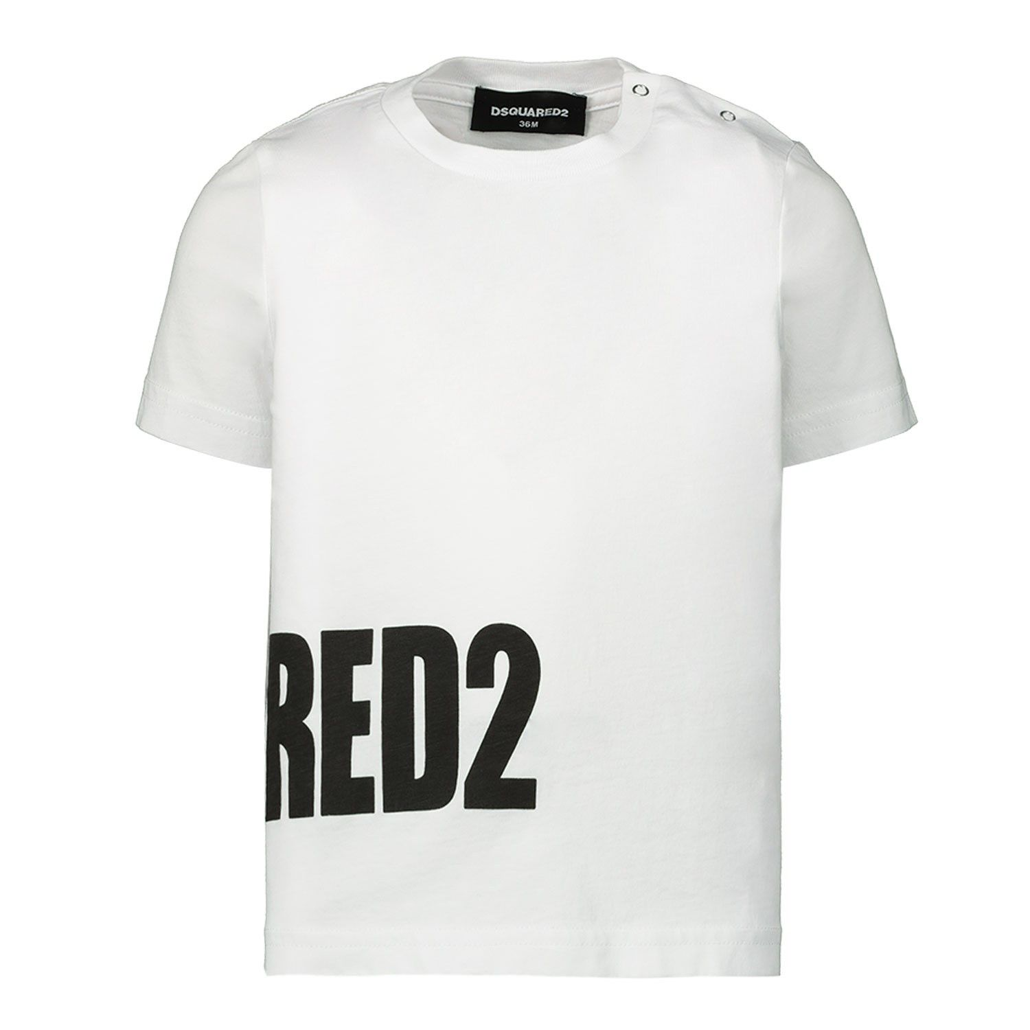 Picture of Dsquared2 DQ040Y baby shirt white