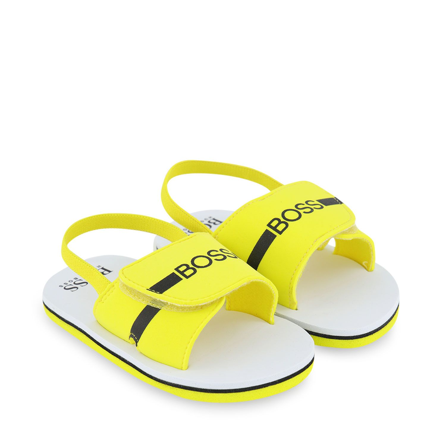 Picture of Boss J09143 kids sandals yellow
