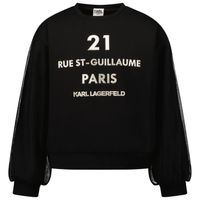 Picture of Karl Lagerfeld Z15340 kids sweater black