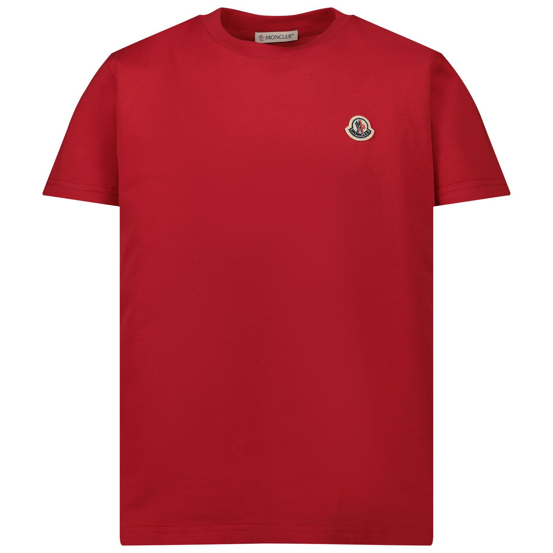 Afbeelding van Moncler 8C74600 kinder t-shirt rood