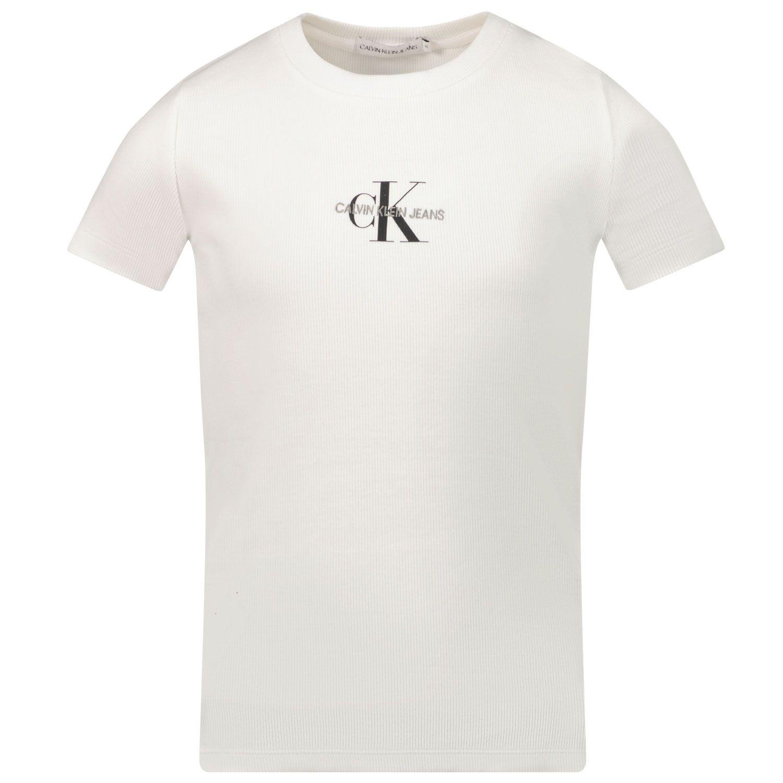 Picture of Calvin Klein IG0IG01033 kids t-shirt white