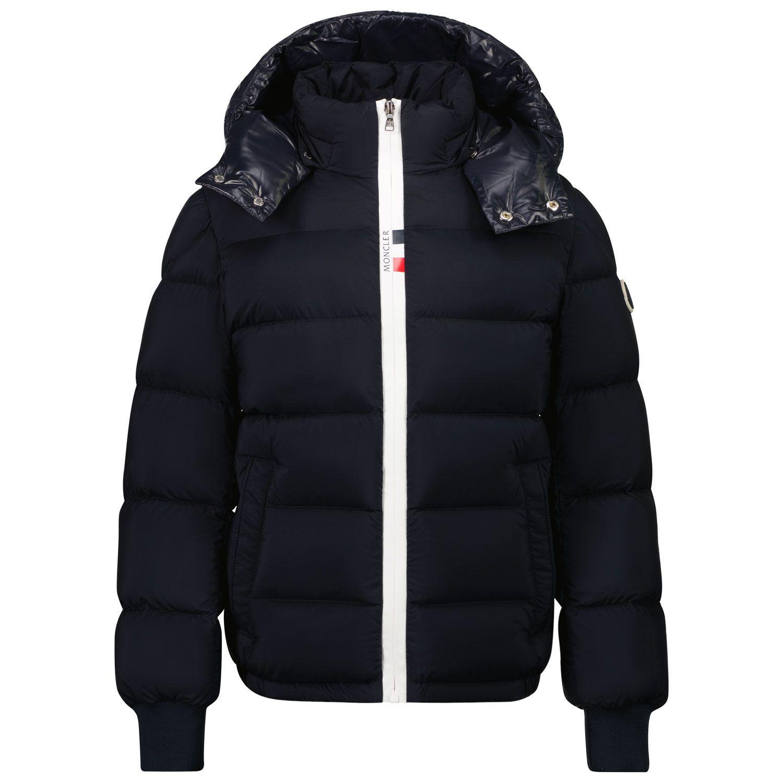 Picture of Moncler 1A52U20 kids jacket blue