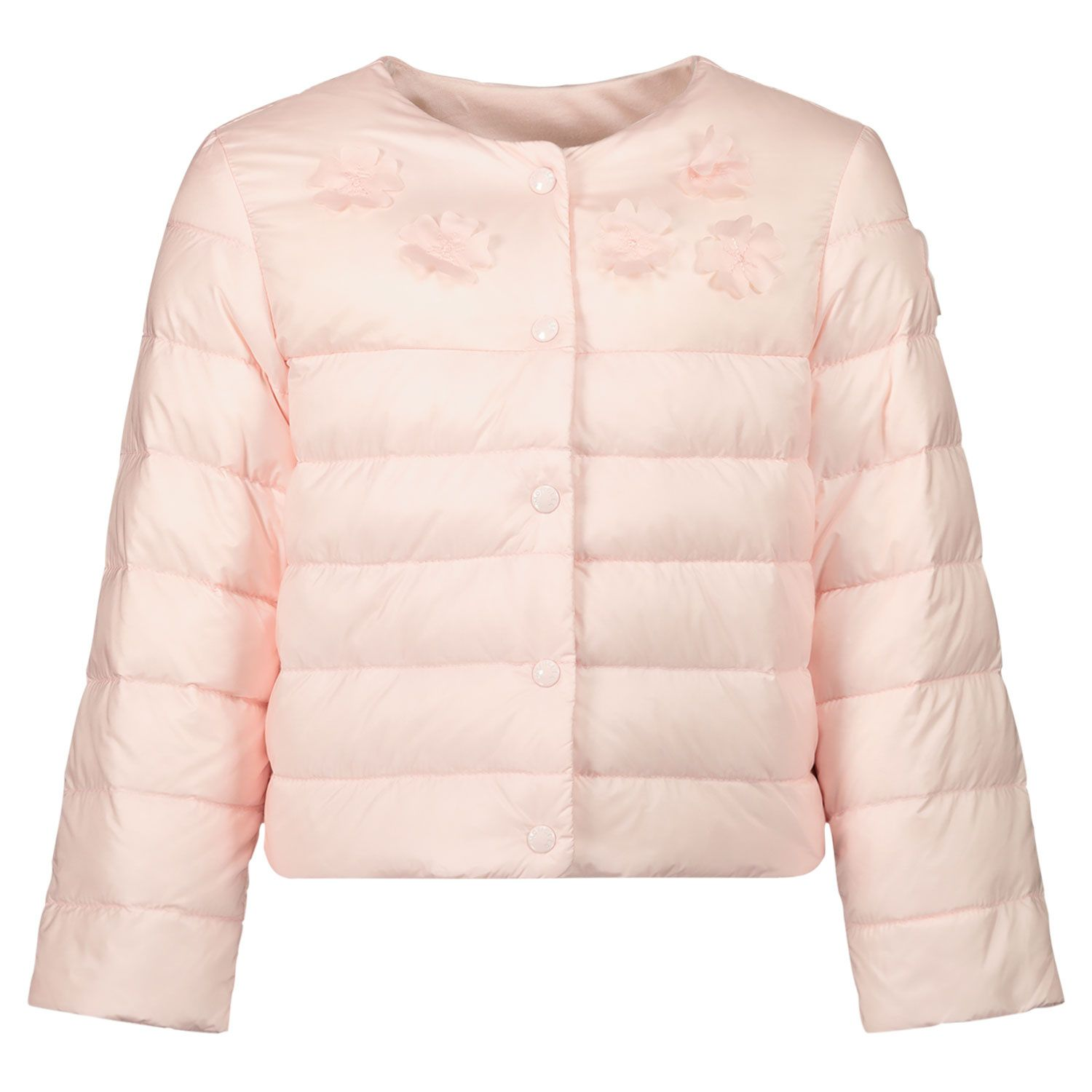Picture of Moncler 1A55310 baby coat light pink
