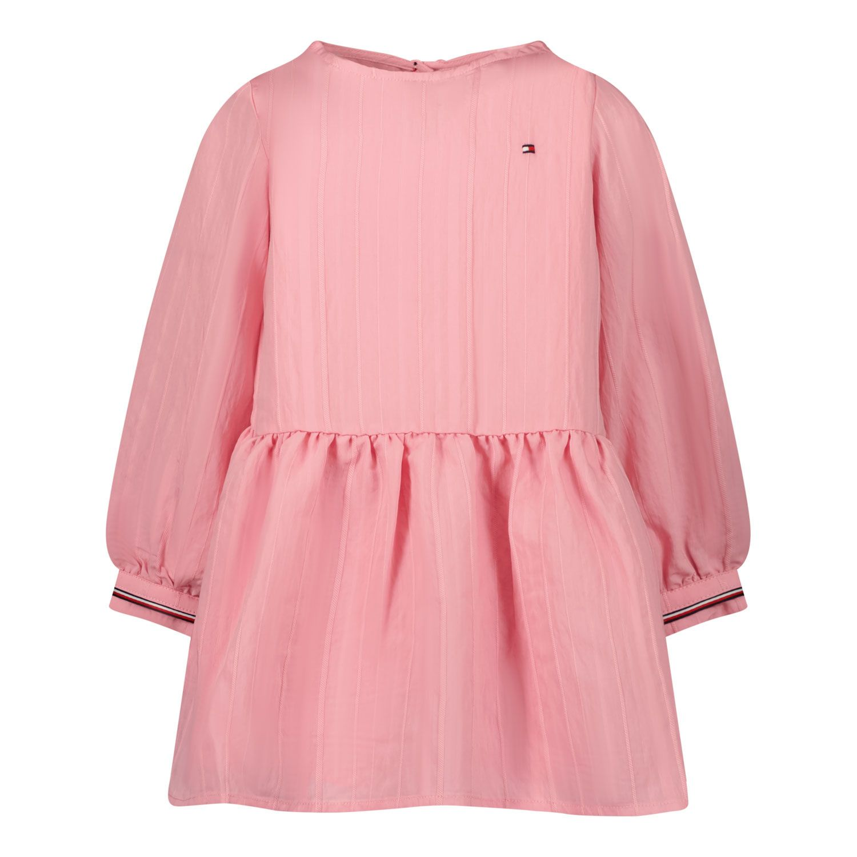Picture of Tommy Hilfiger KG0KG06093B baby dress light pink