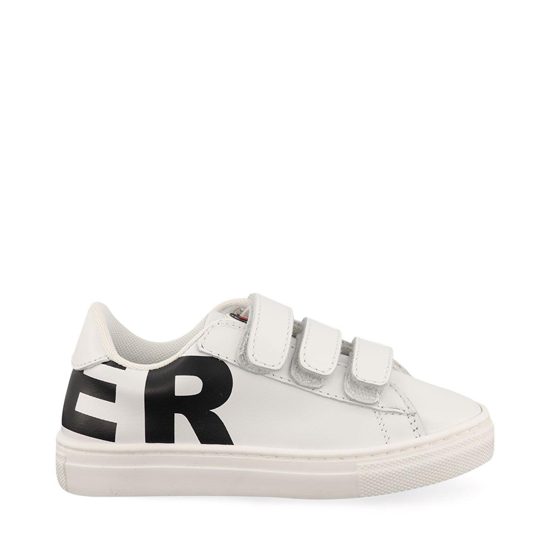Afbeelding van Moncler 4M70420 kindersneakers wit/zwart