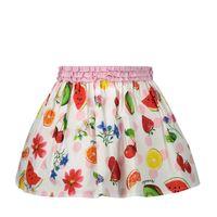 Picture of MonnaLisa 315704 baby skirt white
