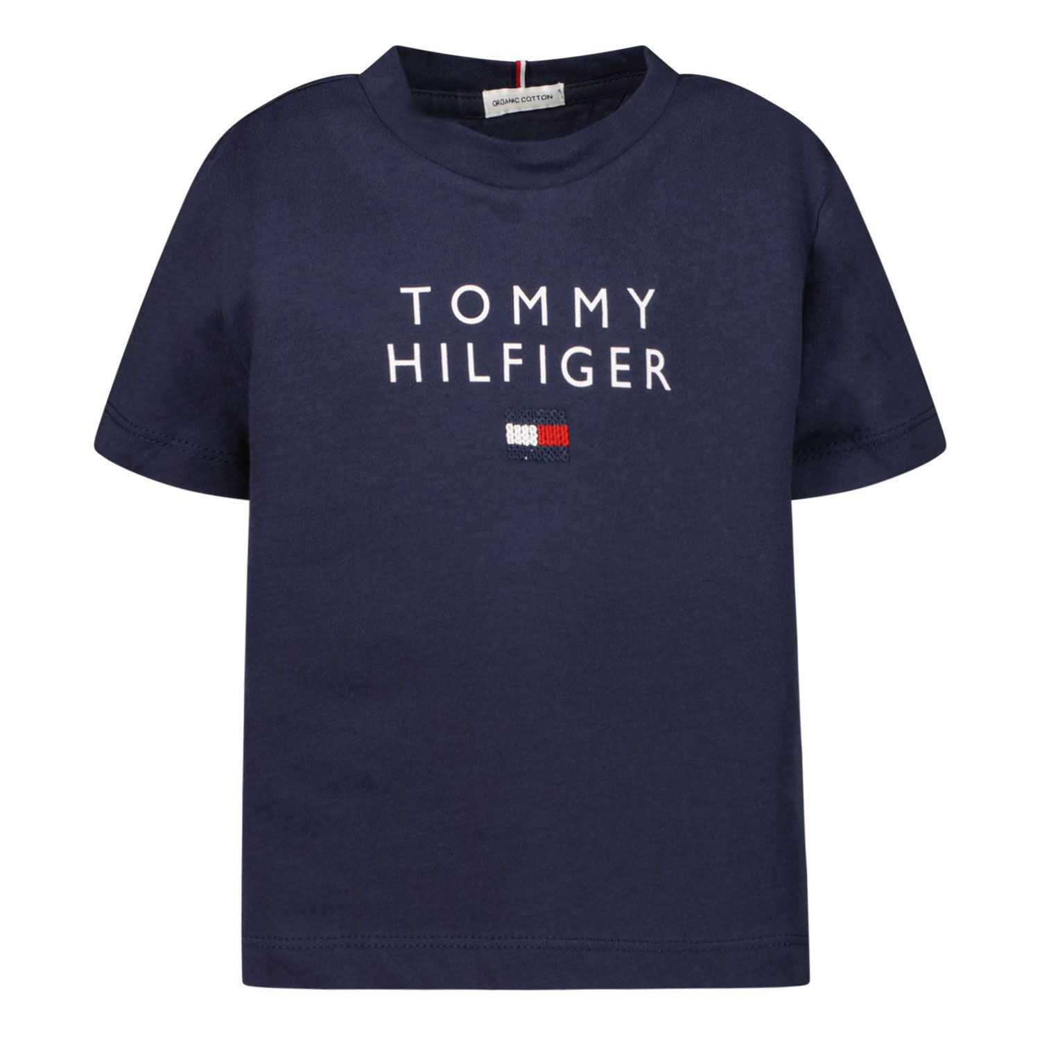 Picture of Tommy Hilfiger KG0KG06163B baby shirt navy