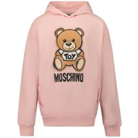 Picture of Moschino HNF03X kids sweater light pink