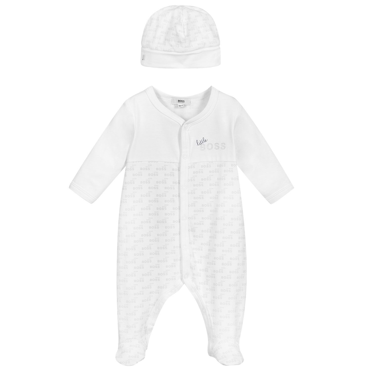 Picture of Boss J98329 baby playsuit white