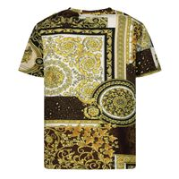 Picture of Versace 1000102 1A00270 baby shirt gold