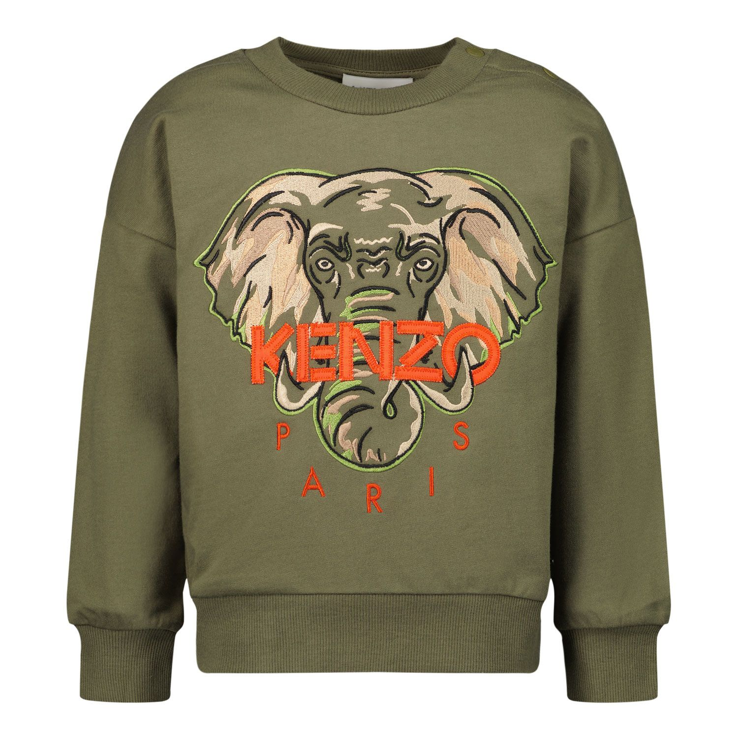 Picture of Kenzo K05061 baby sweater army
