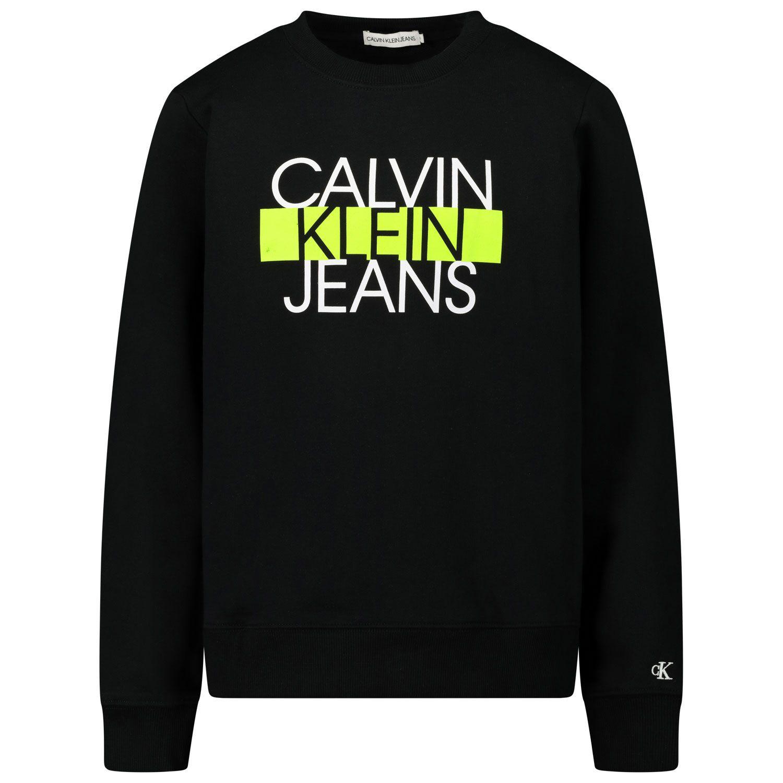 Afbeelding van Calvin Klein IB0IB000540 kindertrui zwart