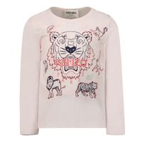 Picture of Kenzo K05106 baby shirt light pink