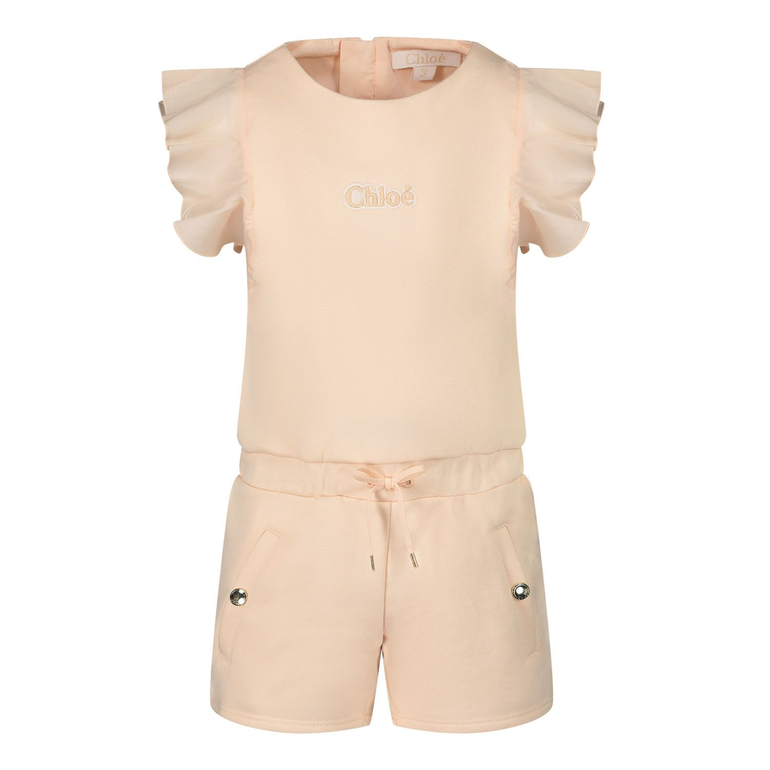 Picture of Chloé C04181 baby jumpsuit salmon