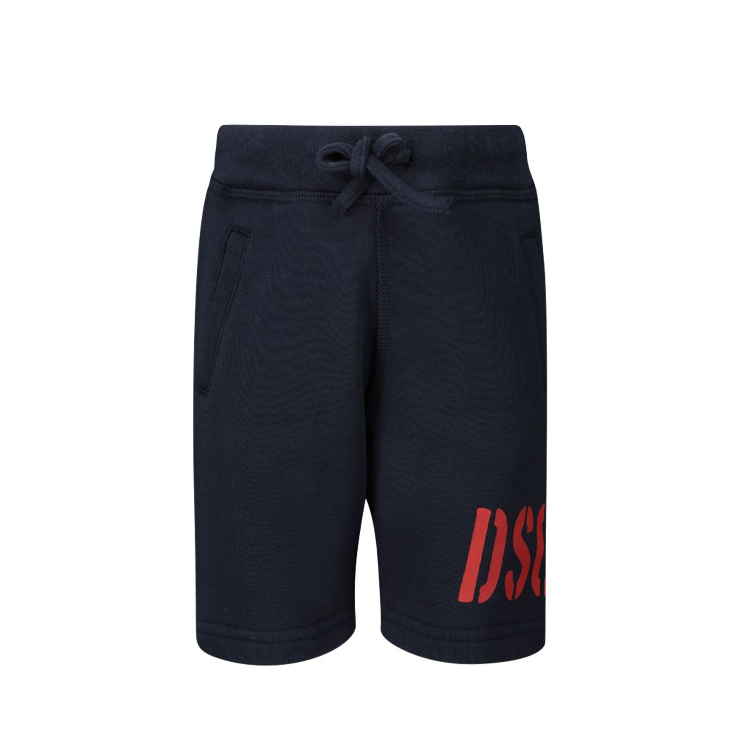 Picture of Dsquared2 DQ04F9 baby shorts navy