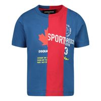 Picture of Dsquared2 DQ0032 baby shirt cobalt blue