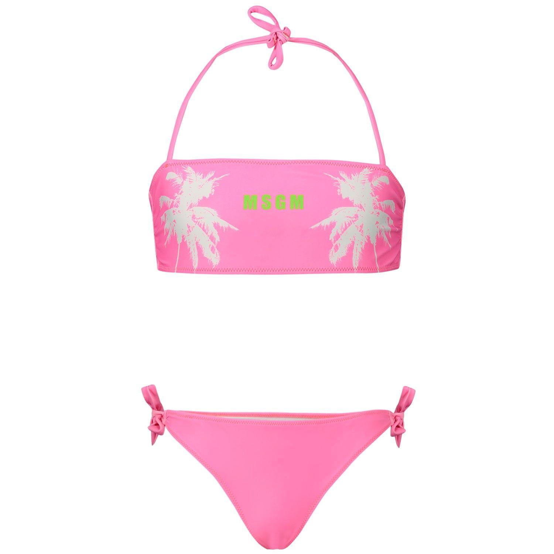 Afbeelding van MSGM 22259 kinder zwemkleding fluor roze