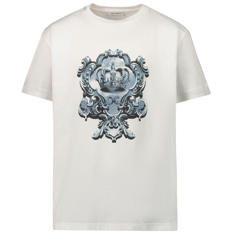 Picture of Dolce & Gabbana L4JT8A G7YBK kids t-shirt white