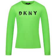 Afbeelding van DKNY D35R14 kinder t-shirt fluor groen
