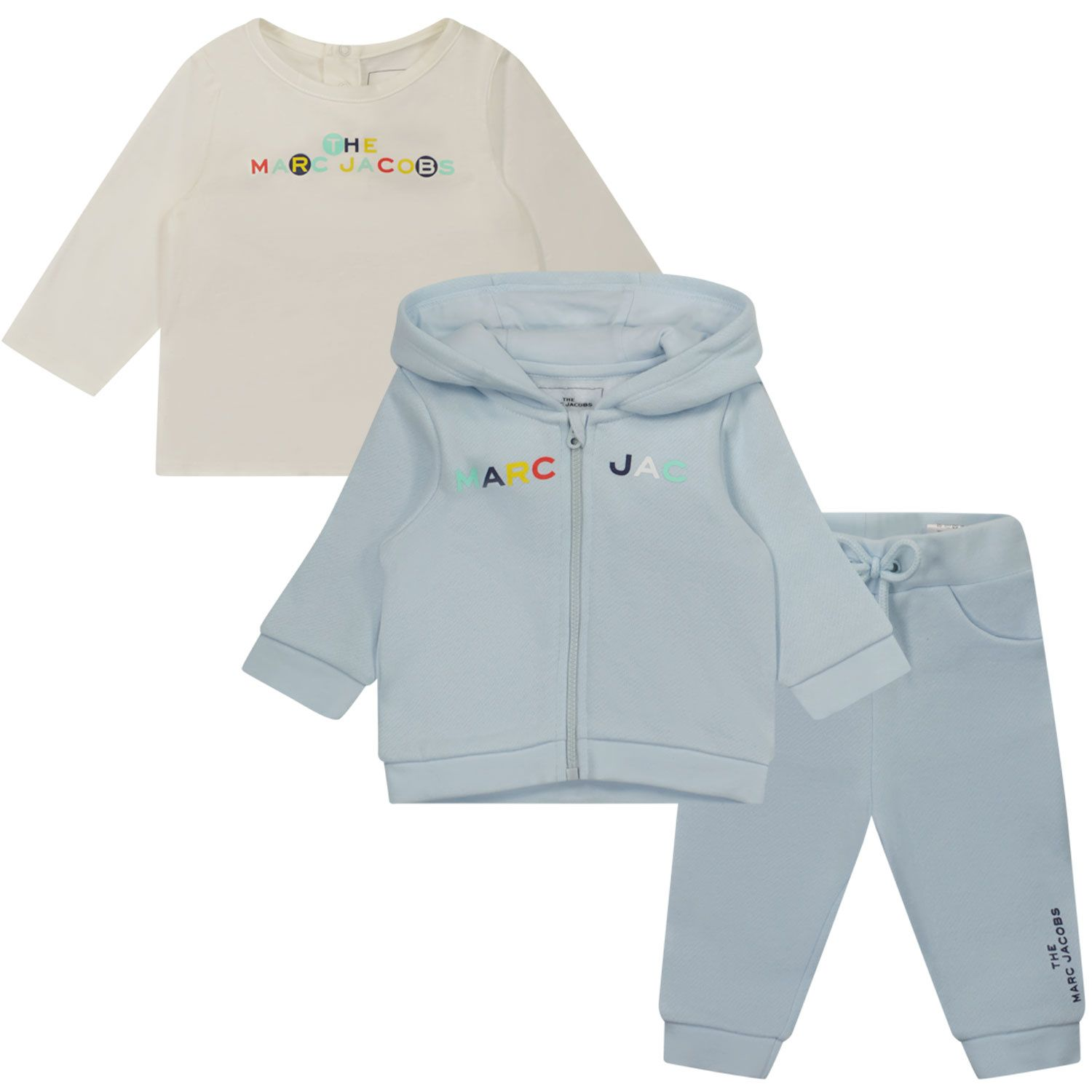 Picture of Marc Jacobs W98137 J baby sweatsuit light blue