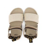 Picture of Fendi JMR340 AF5Z kids sandals beige
