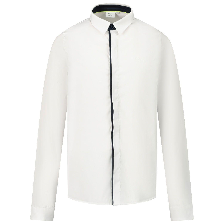 Afbeelding van Boss J25G53 kinder overhemd wit