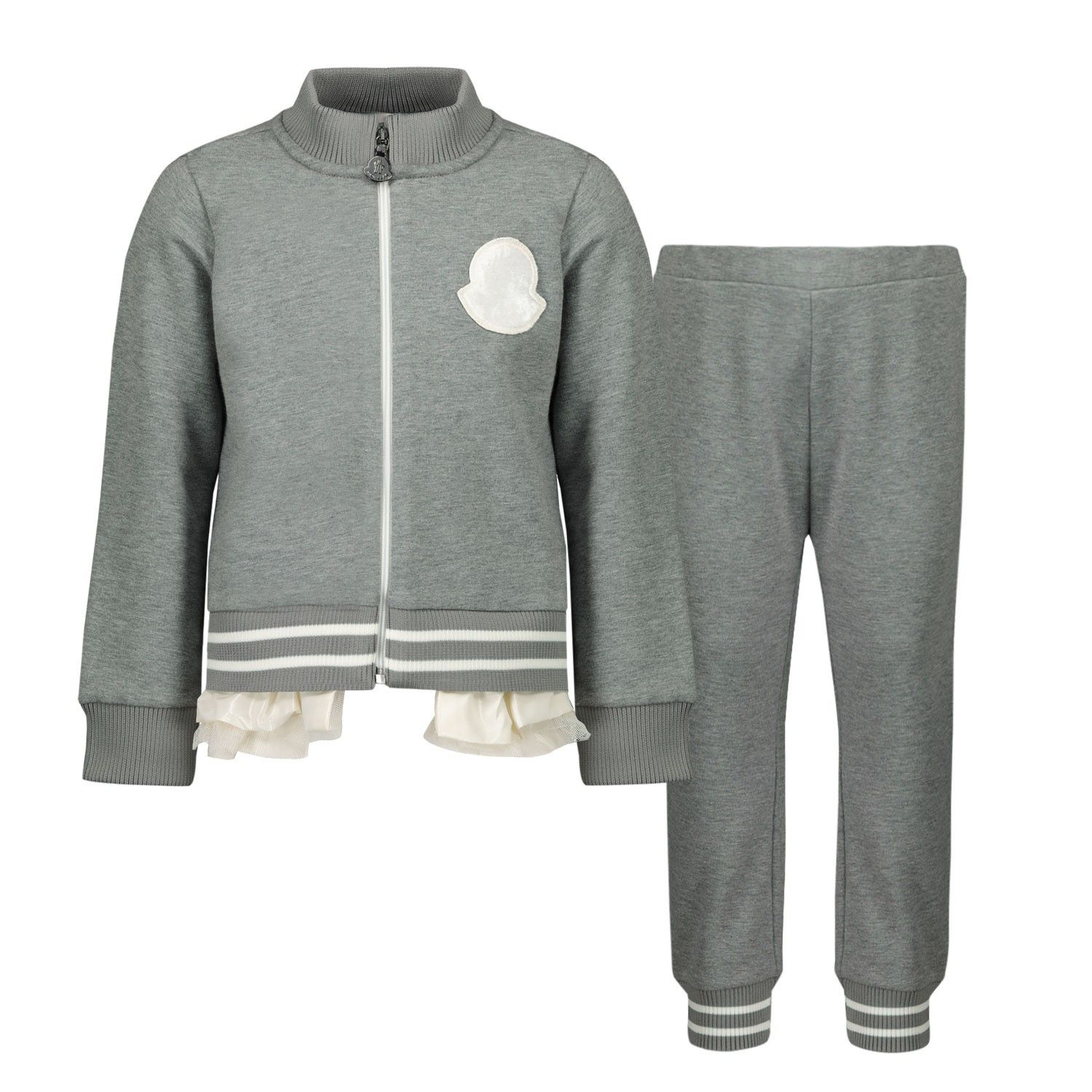Picture of Moncler 8M72710 baby sweatsuit light gray