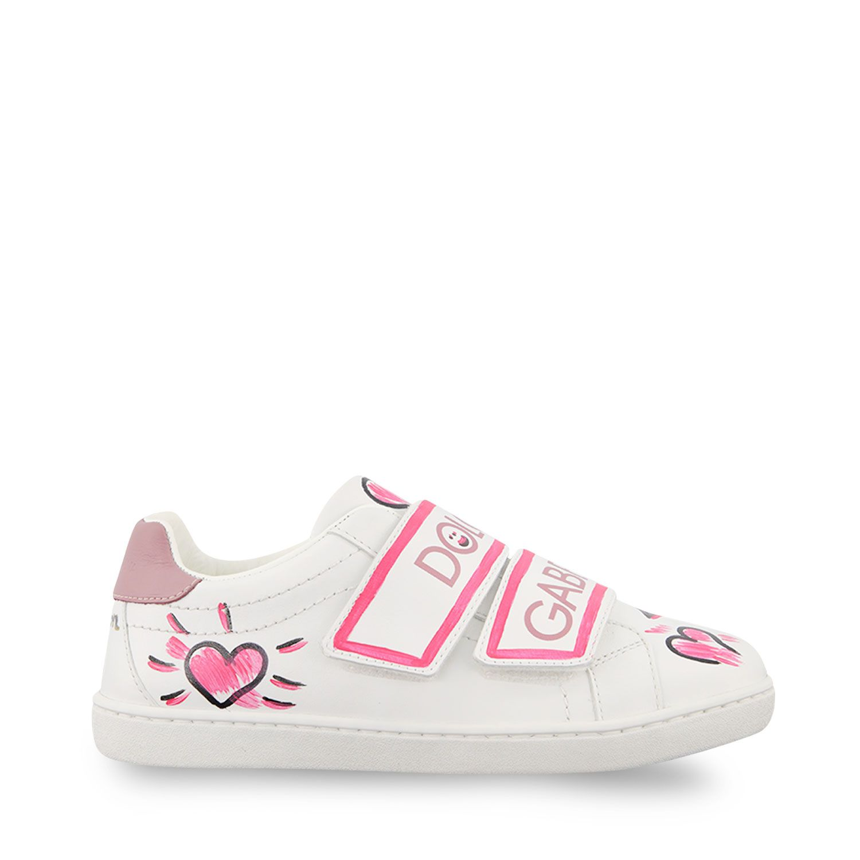 Afbeelding van Dolce & Gabbana E10902 B6302 kindersneakers roze/wit