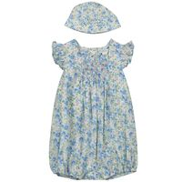 Picture of Ralph Lauren 310784620 baby jumpsuit blue