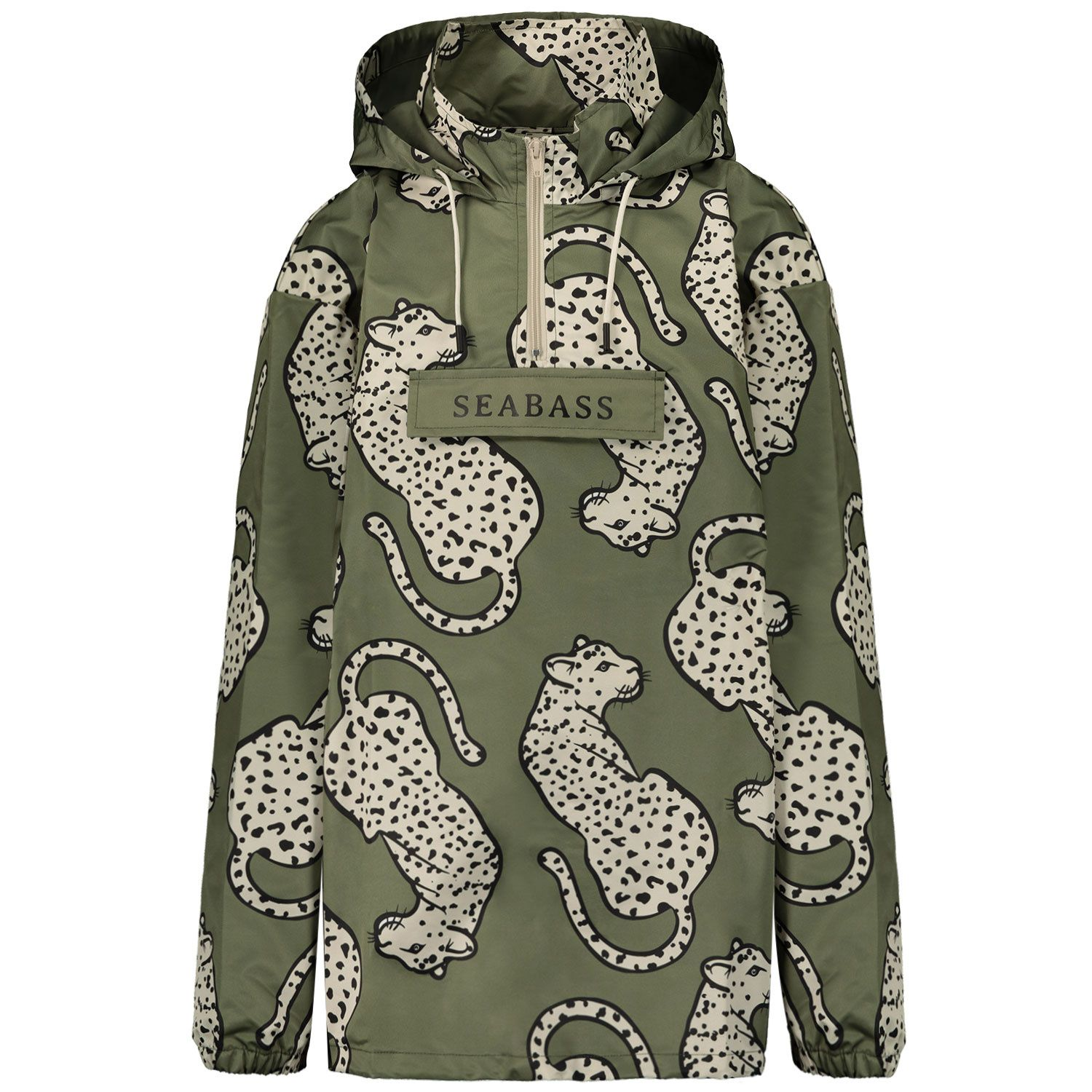 Picture of SEABASS ANORAK RAIN JACKET kids jacket army