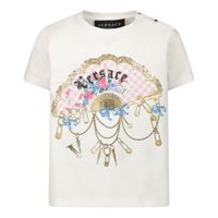 Picture of Versace YA000188 baby shirt off white