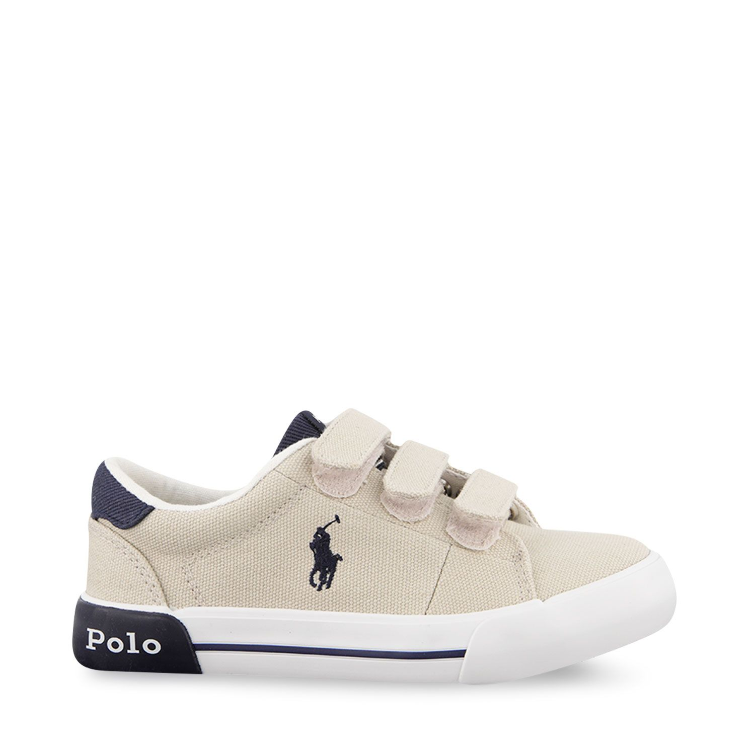Picture of Ralph Lauren RF102973 kids sneakers beige