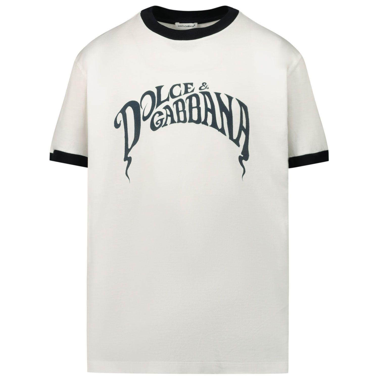 Afbeelding van Dolce & Gabbana L4JT8A G7WRU kinder t-shirt wit