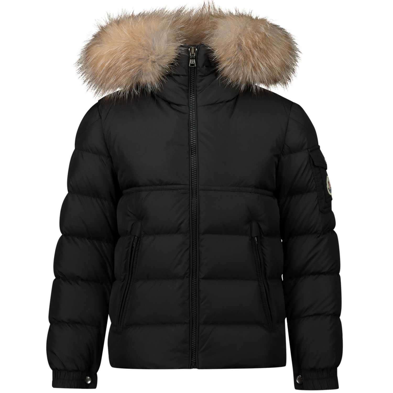 Picture of Moncler 1A58622 kids jacket black