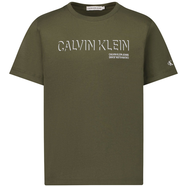 Afbeelding van Calvin Klein IB0IB01003 kinder t-shirt army