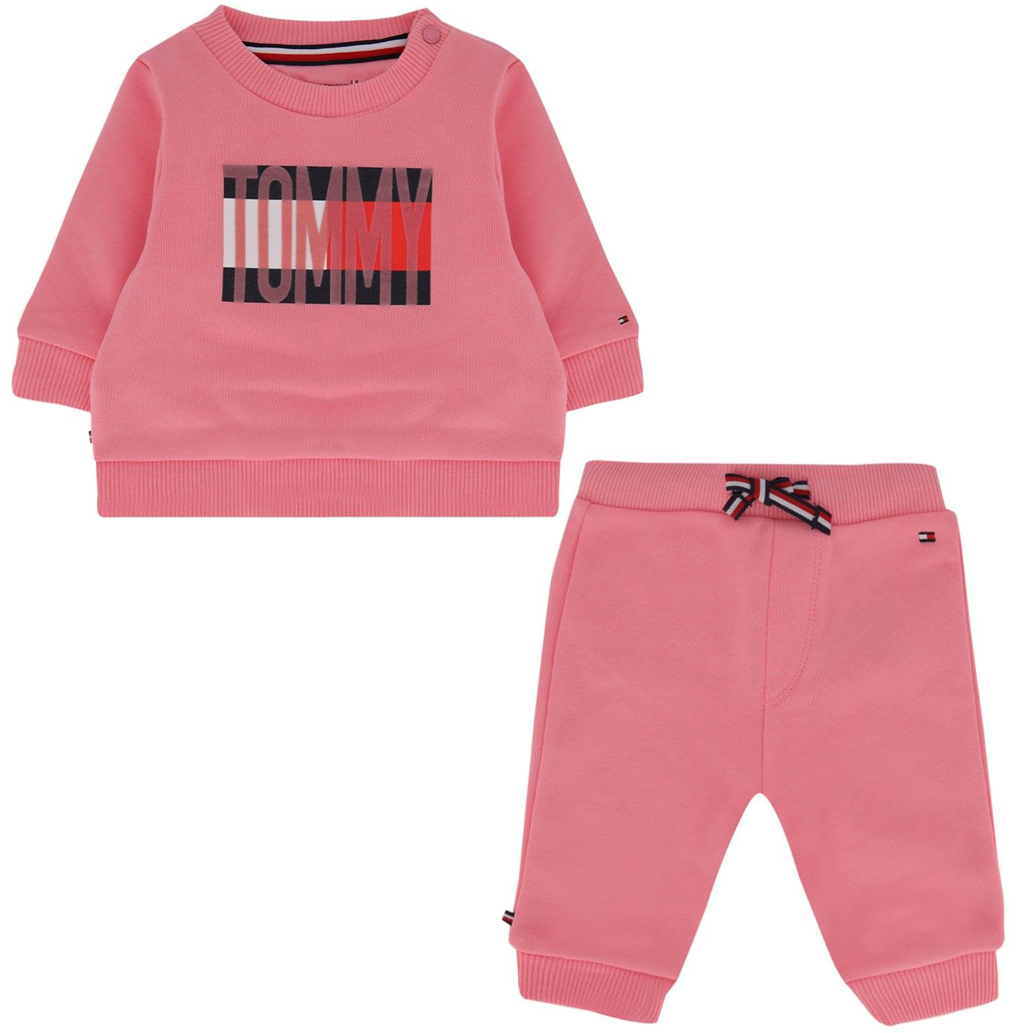 Picture of Tommy Hilfiger KN0KN01172 baby set pink
