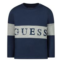 Picture of Guess N0YI30/K8HM0 baby shirt navy