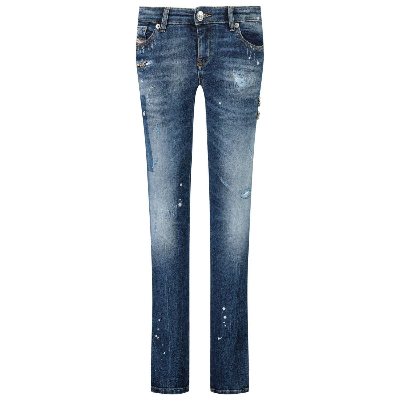 Picture of Diesel 00J3S6 KXB6E kids jeans jeans