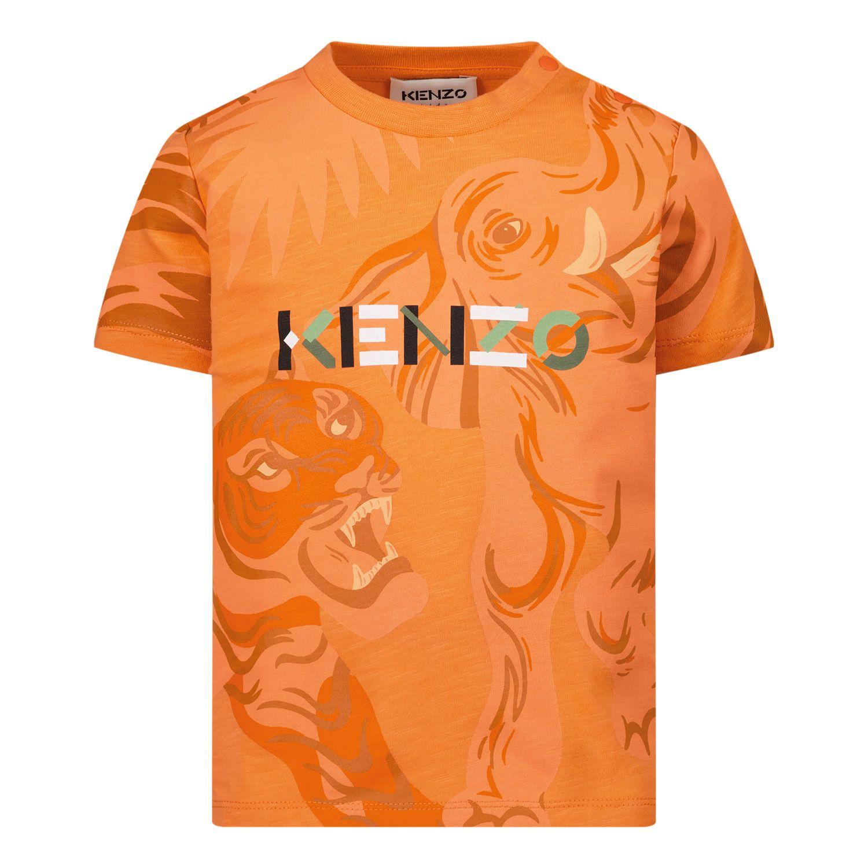 Afbeelding van Kenzo K05035 baby t-shirt zalm