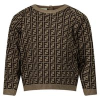 Picture of Fendi BUG061 A3TE baby sweater brown