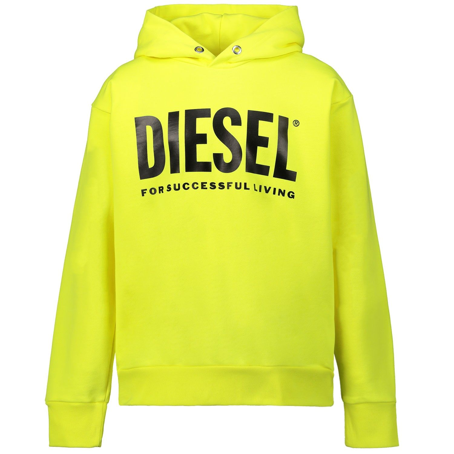 Picture of Diesel 00J4PP kids sweater fluoro yellow