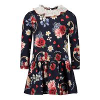 Picture of MonnaLisa 316915 baby dress navy