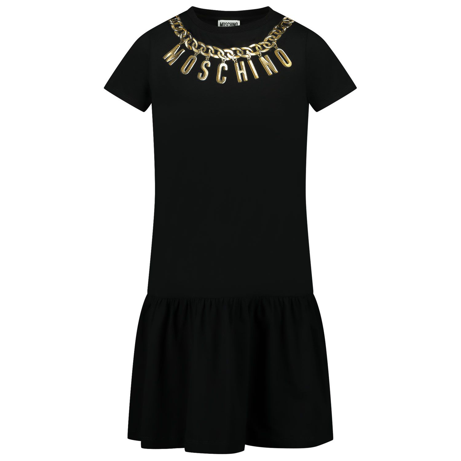 Picture of Moschino HDV0AH kids dress black