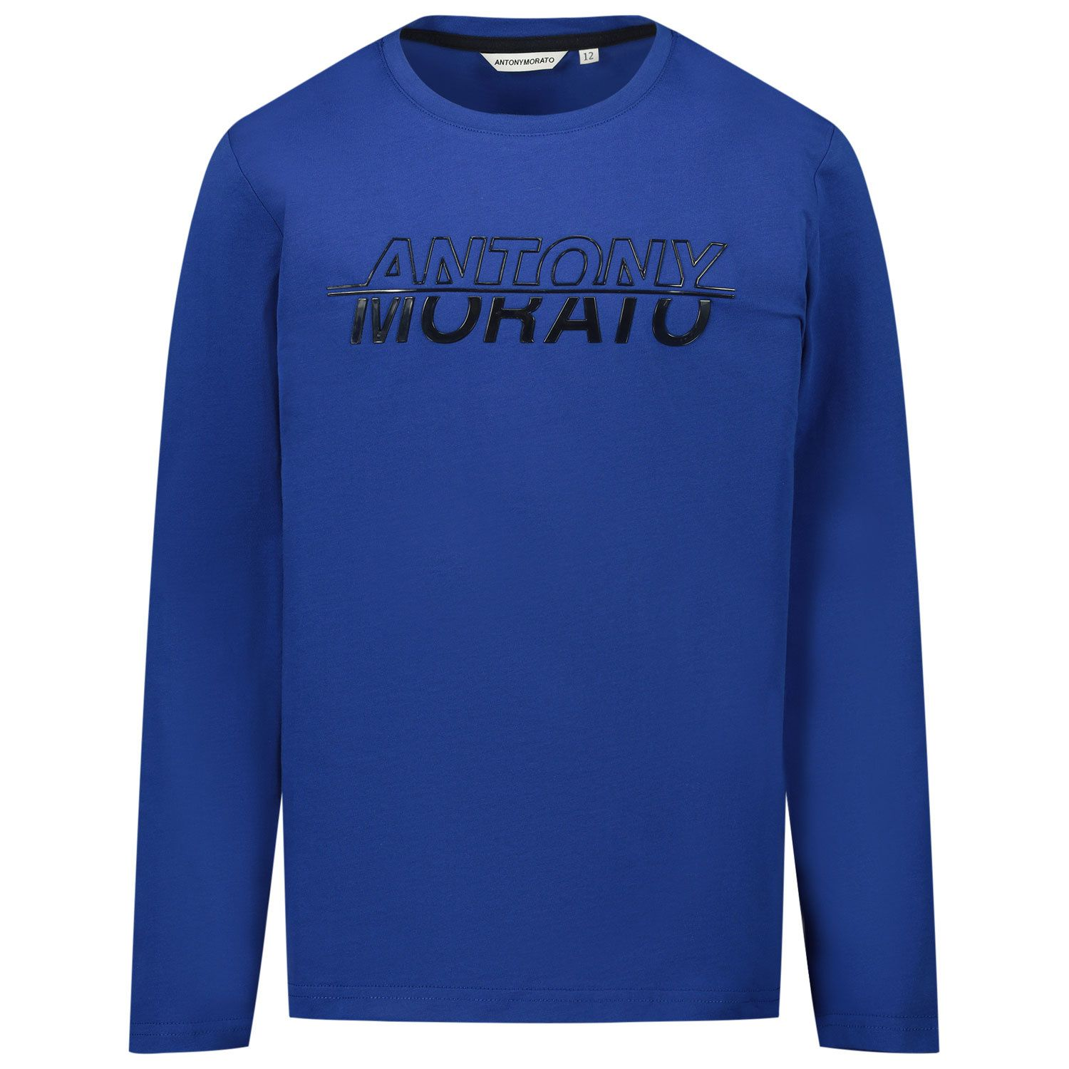 Picture of Antony Morato MKKL00214 kids t-shirt cobalt blue