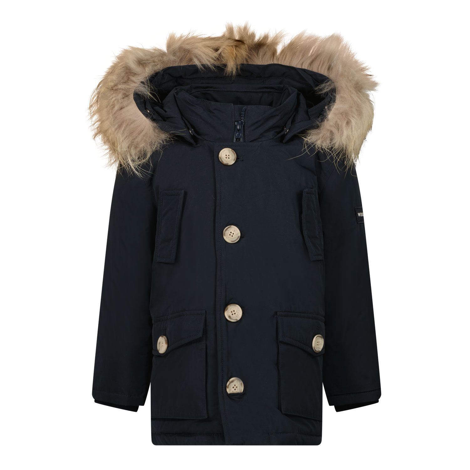 Picture of Woolrich CFWKOU0206 baby coat navy