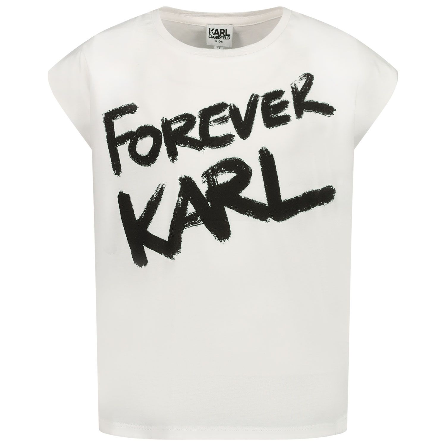 Picture of Karl Lagerfeld Z15267 kids t-shirt white