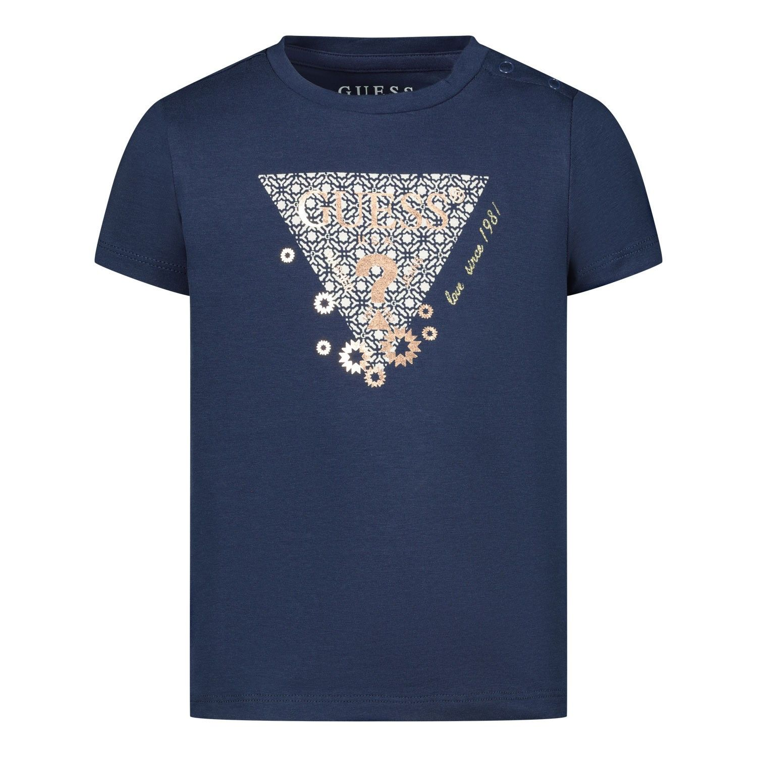 Picture of Guess K02I00 baby shirt navy