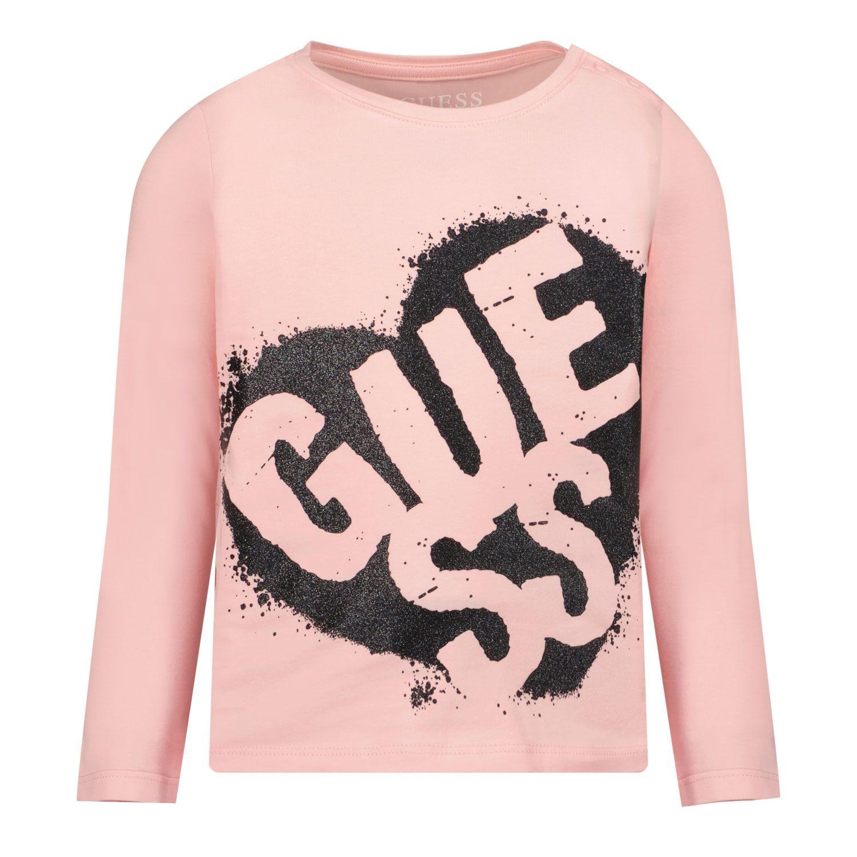 Afbeelding van Guess K1BI02 B baby t-shirt licht roze