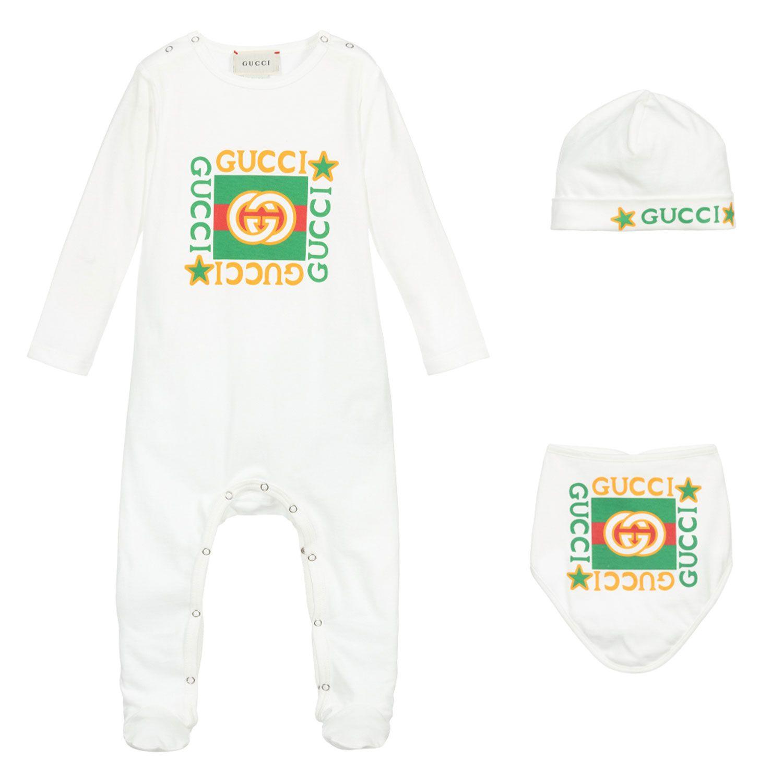 Bild von Gucci 627965 Babystrampelanzug Weiß